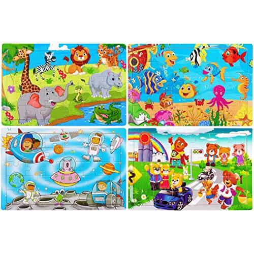Buy Wooden Jigsaw Puzzles Set For Kids Age 2 6 Year Old 30 Piece